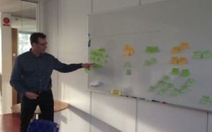 Ola Isaksson of GKN at the whiteboard
