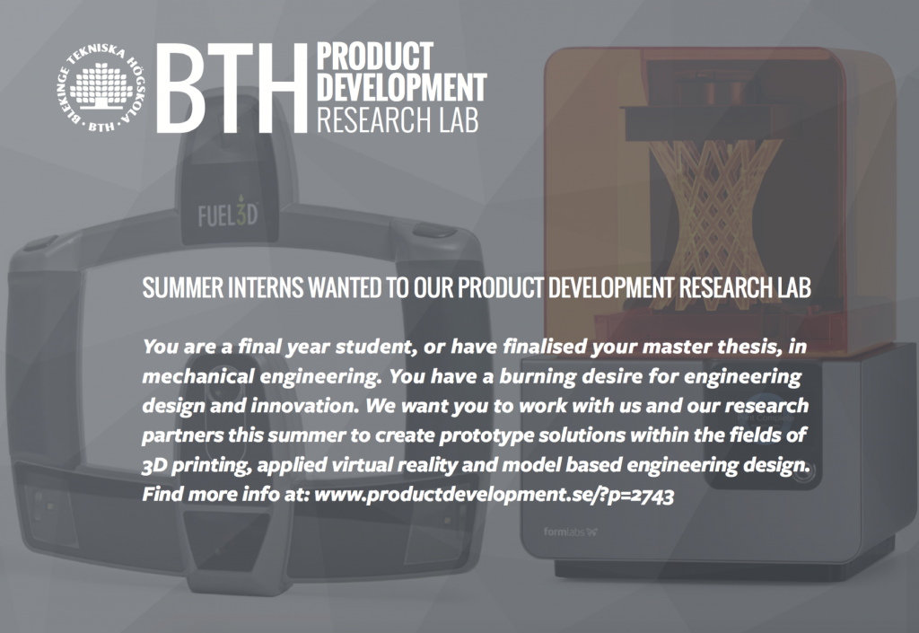 Summer interns 2017 - Product Development Research Lab