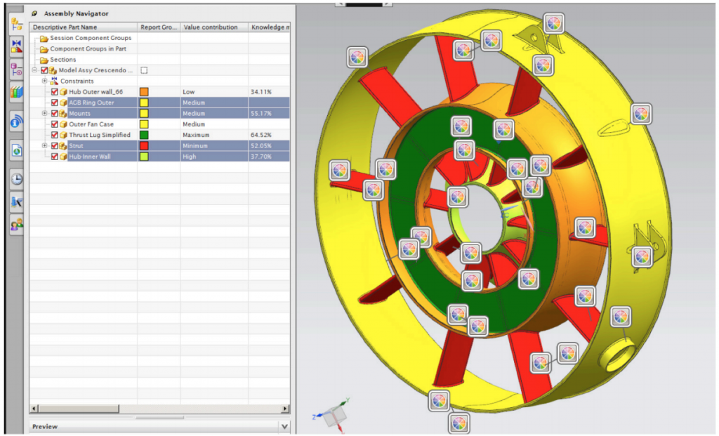 From color-coding paper: Color-coded visualization of the IMC main parts (in SIEMENS NX HD3D Visual reporting).