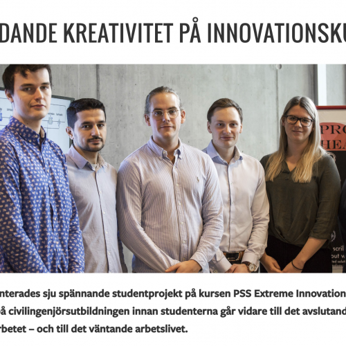 Flödande kreativitet på innovationskurs