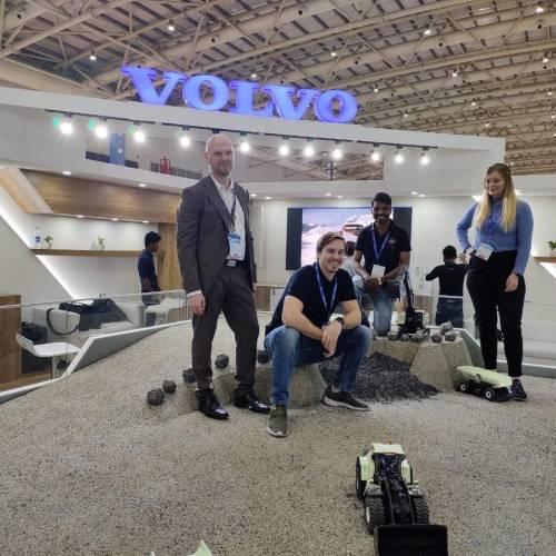 Volvo CE Electric Site demo at EXCON 2019 in Bangalore