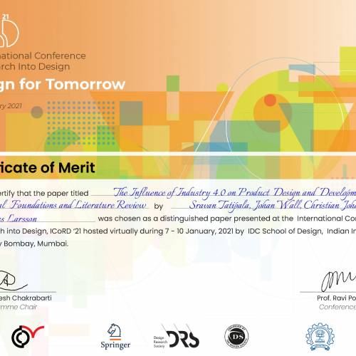 Distiguished paper award at ICoRD '21