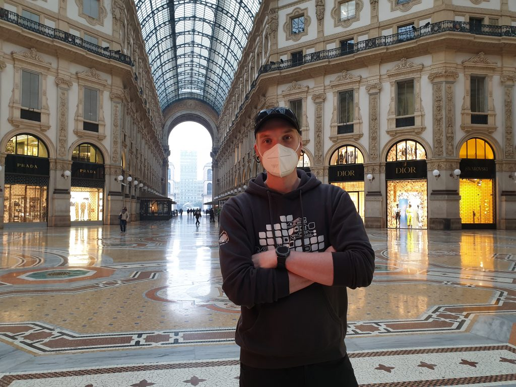 Albin i Galleria Vittorio Emanuele II i Milano